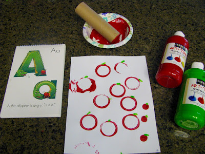 Recycled apple day craft for preschoolers