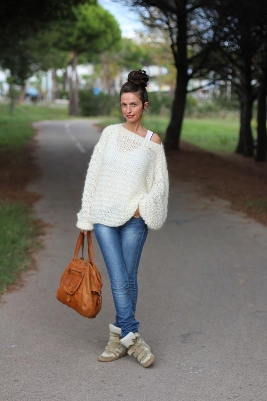 comment tricoter un pull oversize