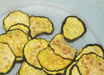 dehydrated raw zucchini chips