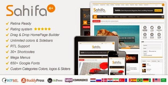 Sahifa premium Free Blogger Template | Blogger ustaad