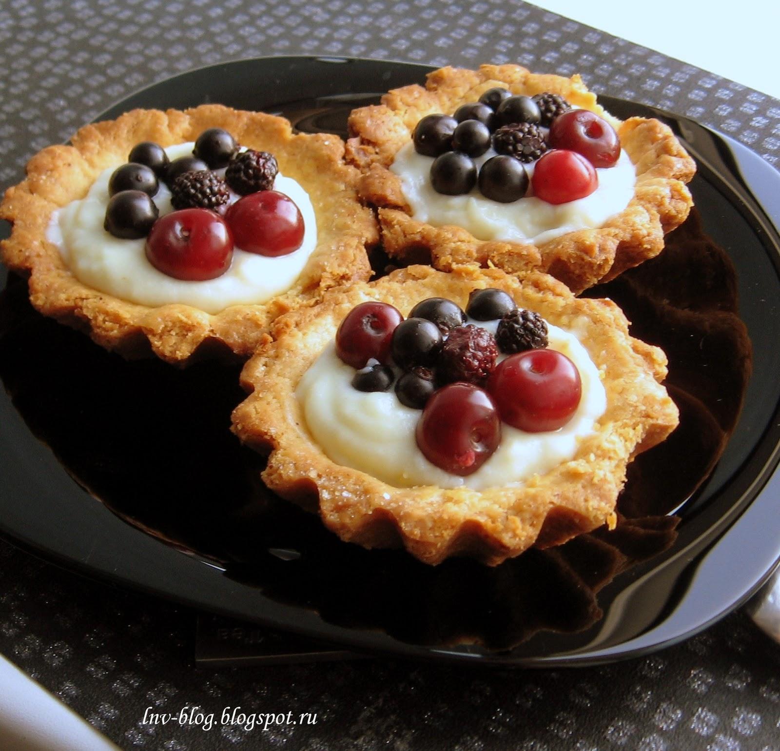 Корзиночки с ягодами рецепт 164