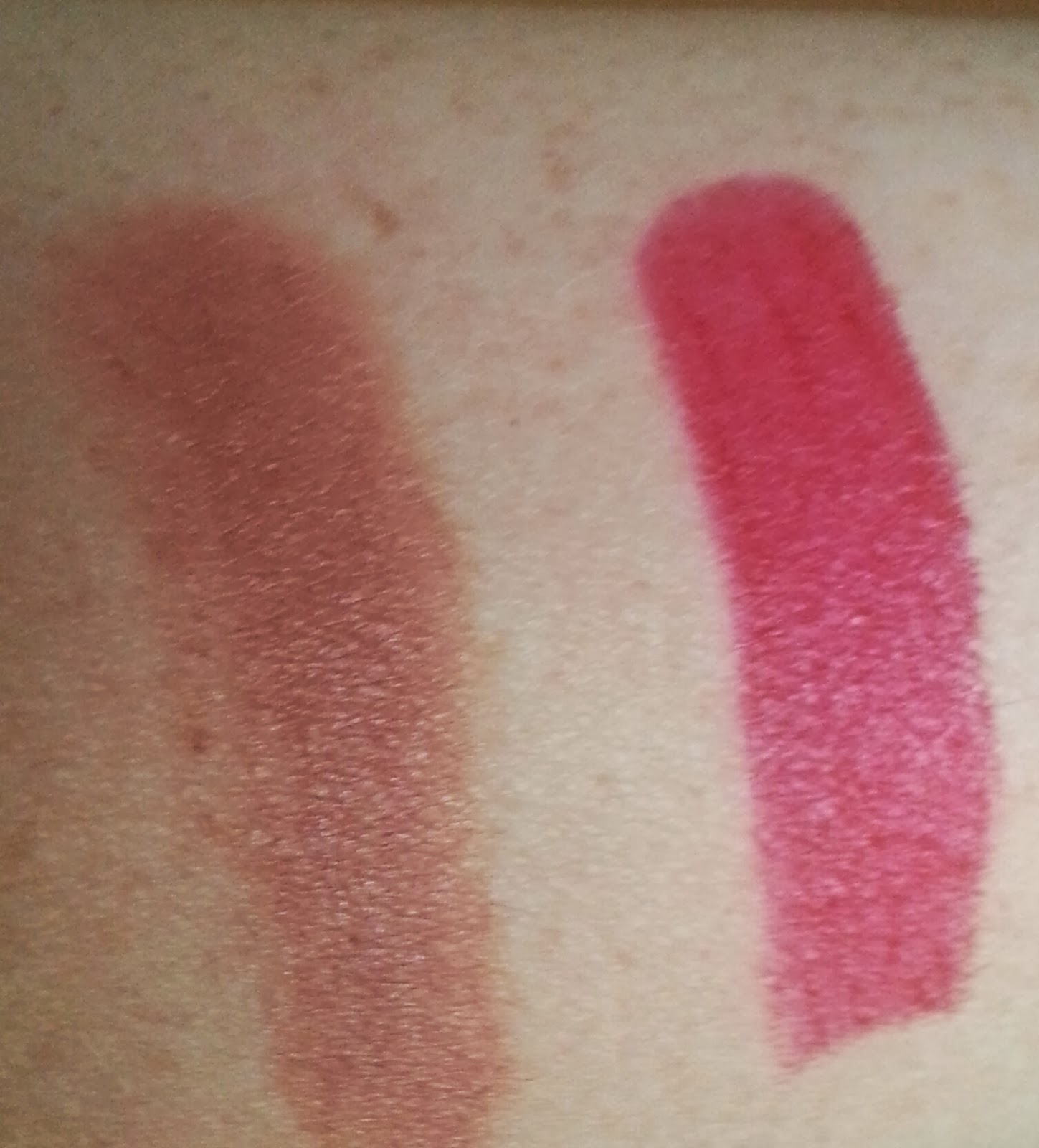 Xenca Perfection Lipstick Swatches fudge and cherry