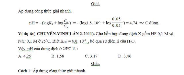 công thức tính nhanh pH và pOH - gia sư tại nhà - 3