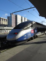 the TGV to Montpellier