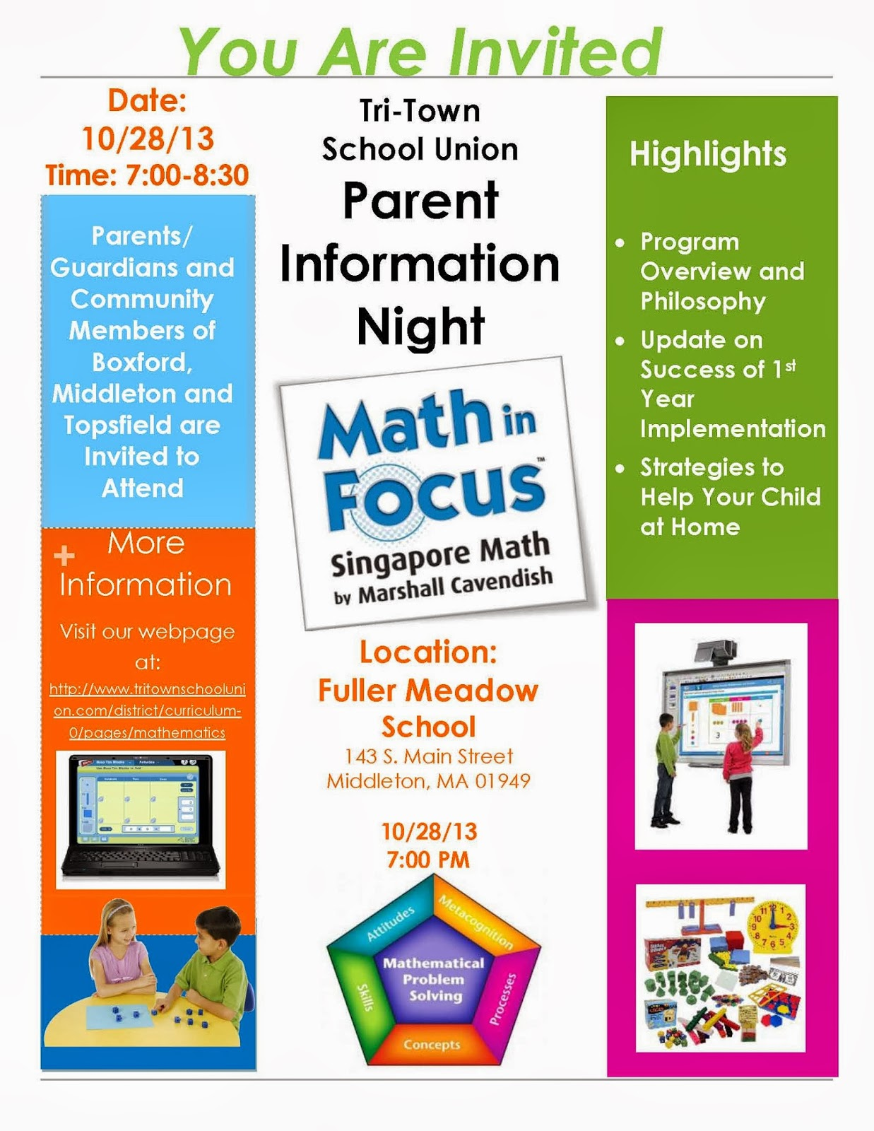 math in focus parent night october 28th