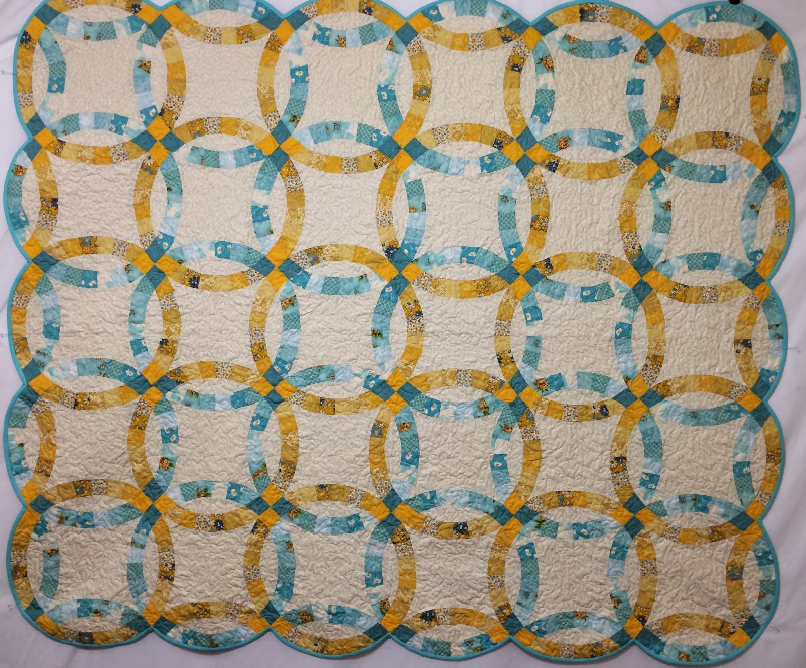 Allison Pace Double Wedding Ring Quilt