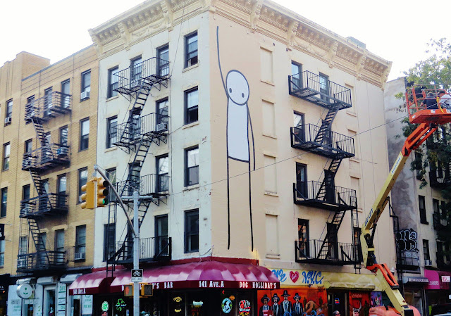 Street Art By British Artist Stik In New York City, USA. 2