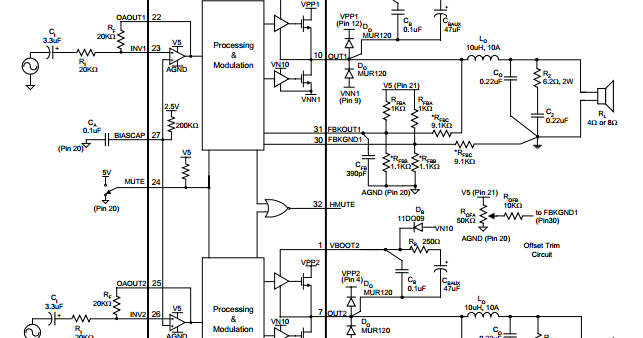 25w audio amplifier circuit using tda2613