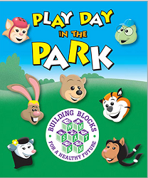 Free Play Day in the Park Easy Reader Coloring Book