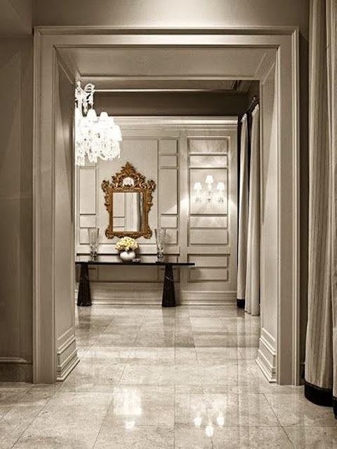 beautiful large open foyer marble tile floors huge crystal chandelier