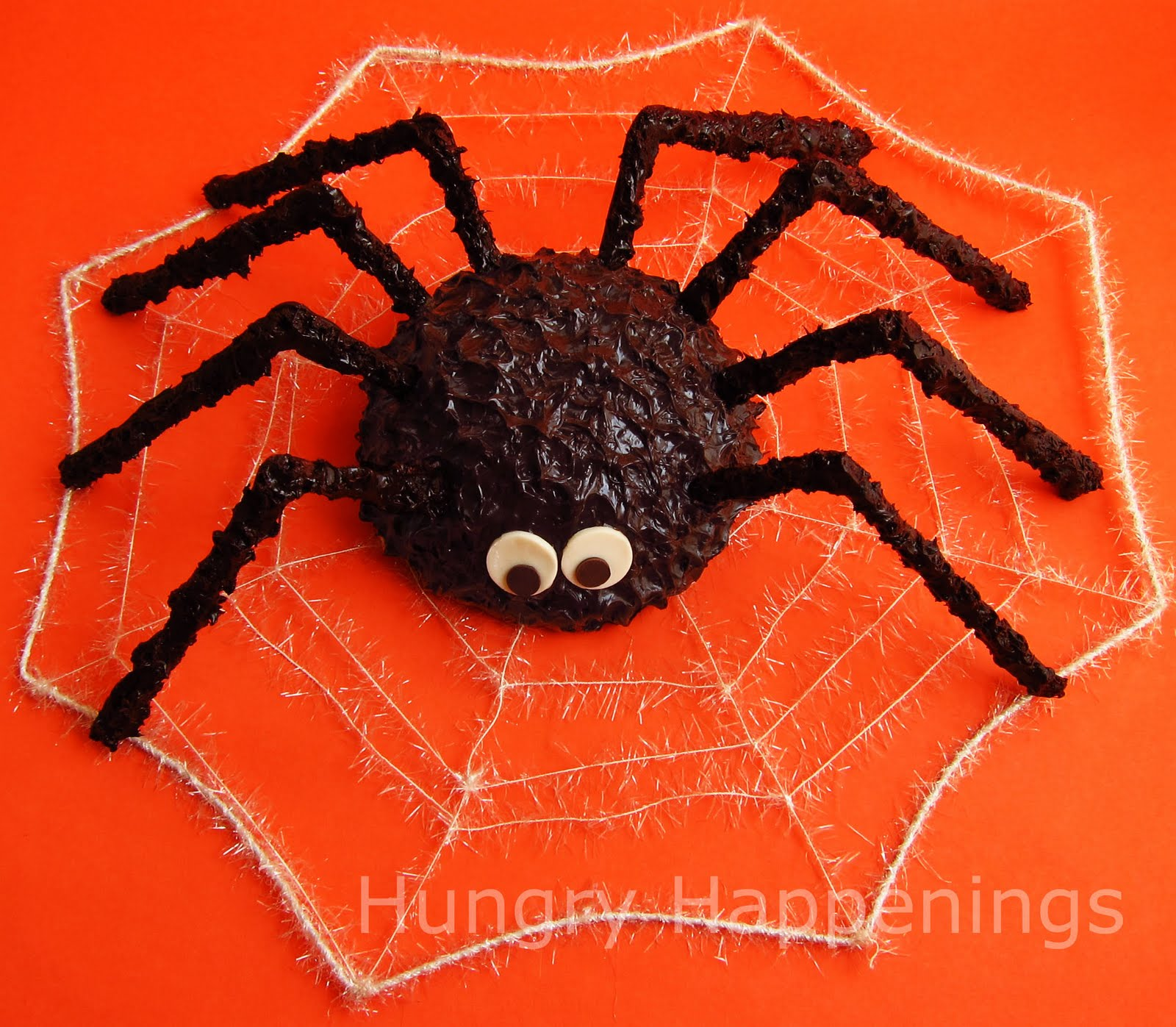 this giant cake ball spider will be the center of attention at your halloween party