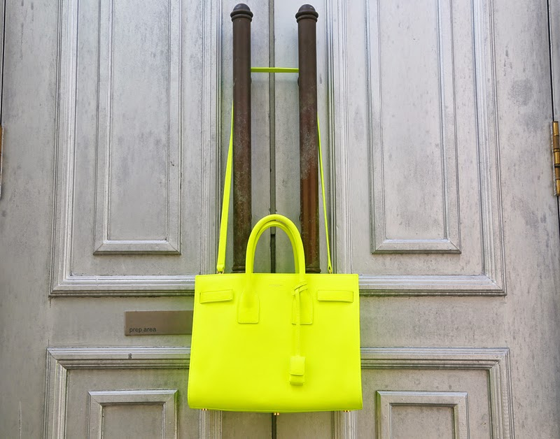 CrystalPhuong- Singapore Fashion Blog- Saint Laurent Sac de Jour bag neon