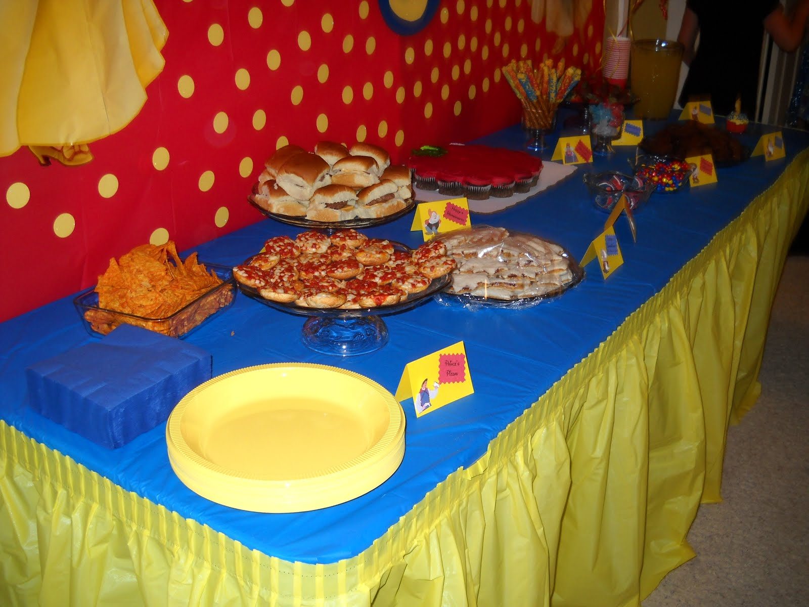 Red And Yellow Table Decorations Photograph Tablecloth