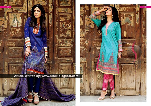 Kayseria presenting Rang-e-Banaras Eid Lawn Collection 2015