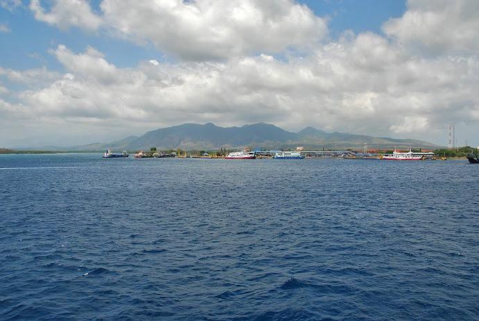 Silueta de la isla de Bali