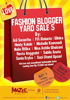 TERRA SANTA -MY FASHION COLLECTION AT FASHION BLOGGER YARD SALE AT F&#39;X JAKARTA