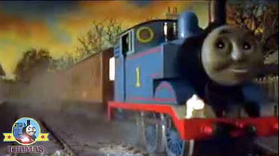 Thomas the train engine whistled as he steamed from Elsbridge station en route for Ffarquhar station
