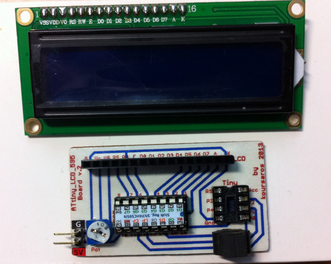 Attinylcd595 Board Lcd Controlled By likewise How To Use Shift Register 74hc165 25 furthermore 4 7kohm Resistor as well Polis Flasher Devresi furthermore Tutorial Arduino Max7219 Led Display Driver Ic. on arduino shift register