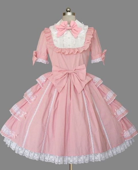 Pink and White Bow Sweet Lolita Dress
