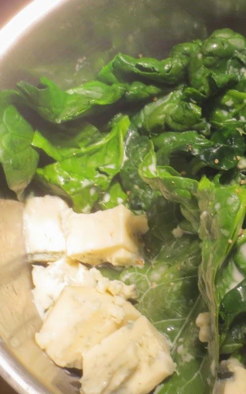 Zubereitung Spinat-Gorgonzola-Sauce