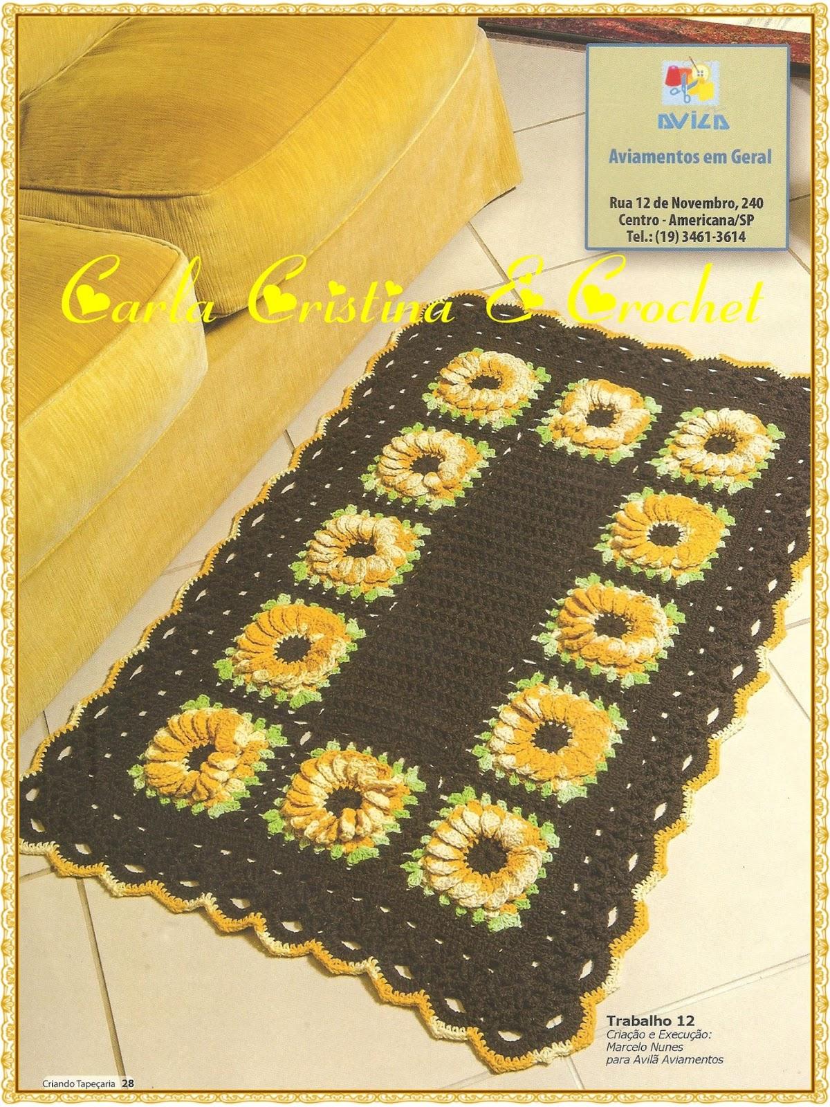 Вязание квадратного коврика крючком из пакетов6