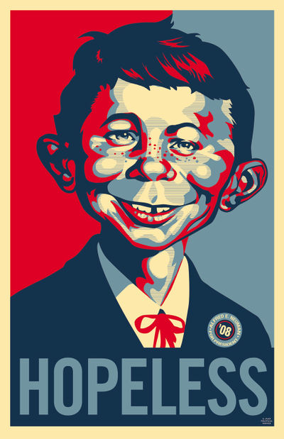 After the Obama poster, Mad Magazine spoofs the style