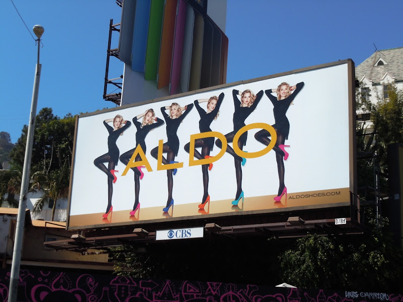 Aldo Shoes colourful pumps billboard