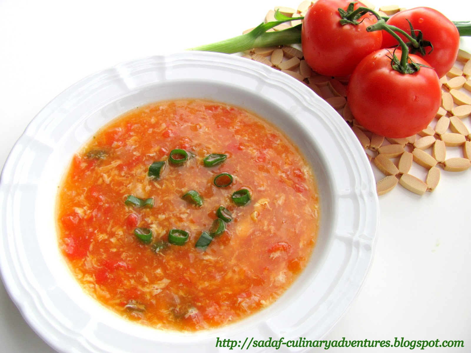 Tomato Egg Drop Soup - My Culinary Adventures