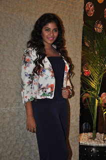 Anjali Spotted in a Black Trousers and white Top At Sankarabharanam Audio Launch