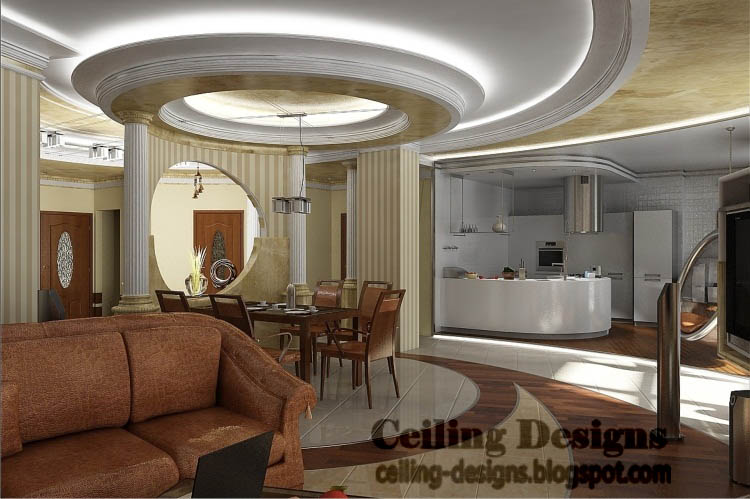 Genial Luxury Gypsum Ceiling Designs For Living Room With Hidden Lighting