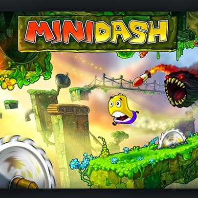 Mini Dash, jogo plataforma flash.