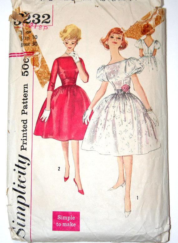 diseños y patrones de vestidos vintage