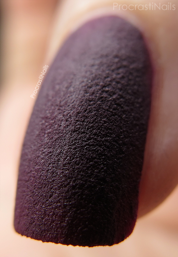 Macro of Sally Hansen Velvet Texture in Lavish