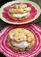 Rhubarb and Rosemary Scones