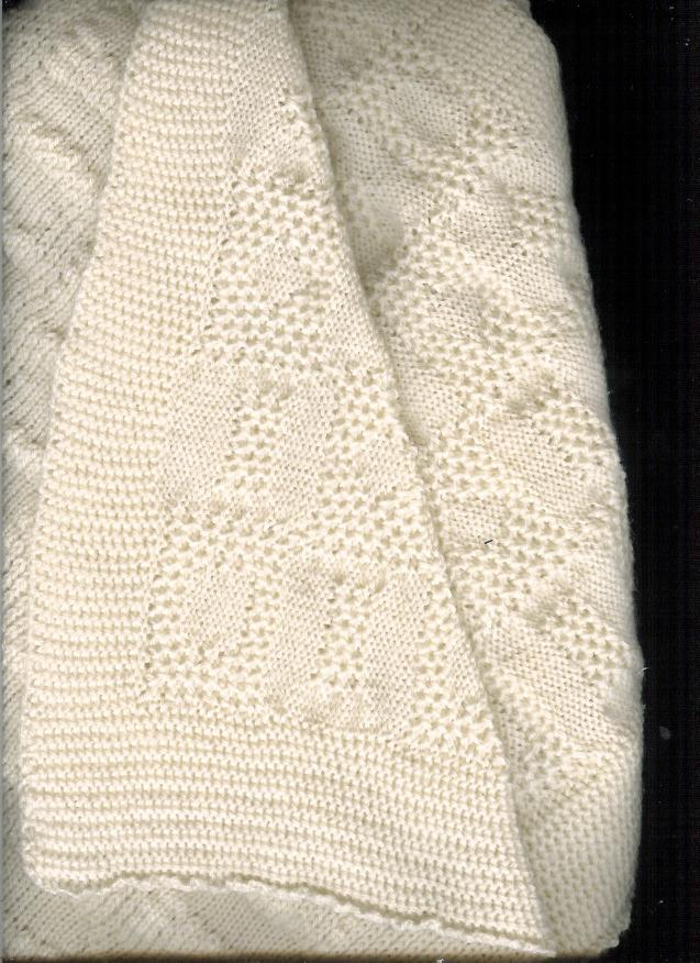Machine Knit Baby Blanket Pattern : Marzipanknits: Machine Knit Tuck Baby Blanket