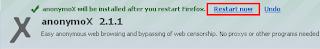 Anonymox restart