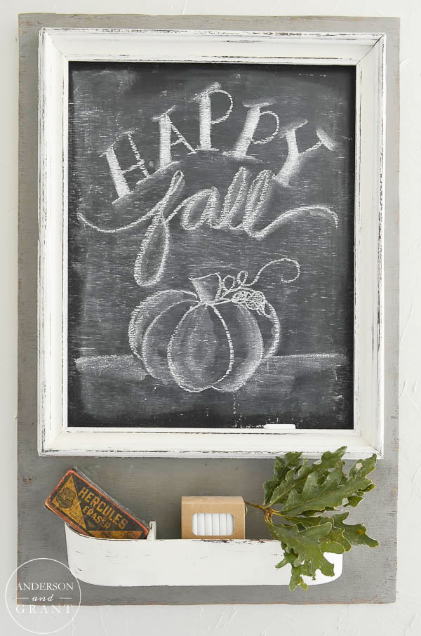 Happy Fall Chalkboard  |  www.andersonandgrant.com