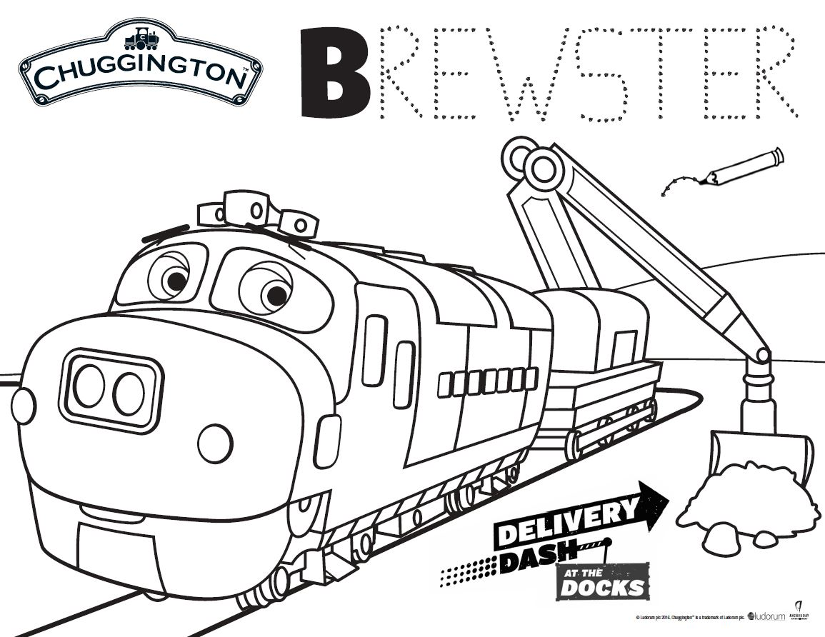 coloring pages heck of a bunch chuggington delivery dash at the docks dvd - Chuggington Wilson Coloring Pages
