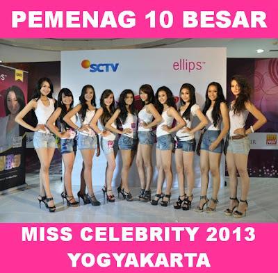 Pemenang 10 Besar Miss Celebrity 2013 di Yogyakarta