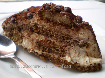 torta tiramisu'...con crema pasticcera e mascarpone