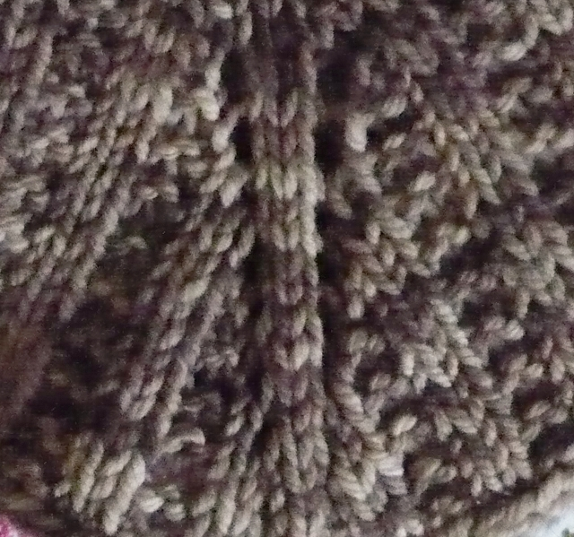 Cabin Fever Sisters Knit: Step or Graduate a stitch pattern