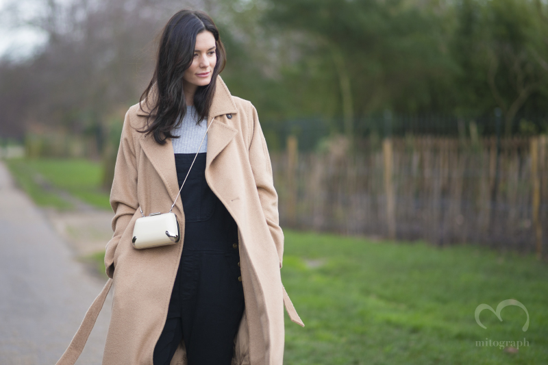 Blogger Hedvig Opshaug wears Maxmara Coat at London Fashion Week LFW
