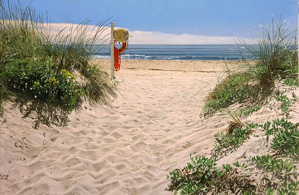 pintura hiper-realista de Steve Mills