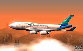 Mod Plane Garuda Indonesia In GTA San Andreas Screenshot www.ifub.net