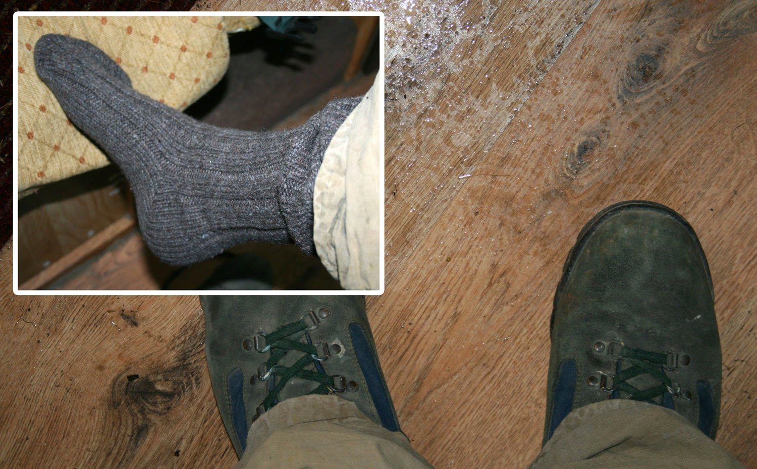 Heavy socks and walking boots, not sandals :(