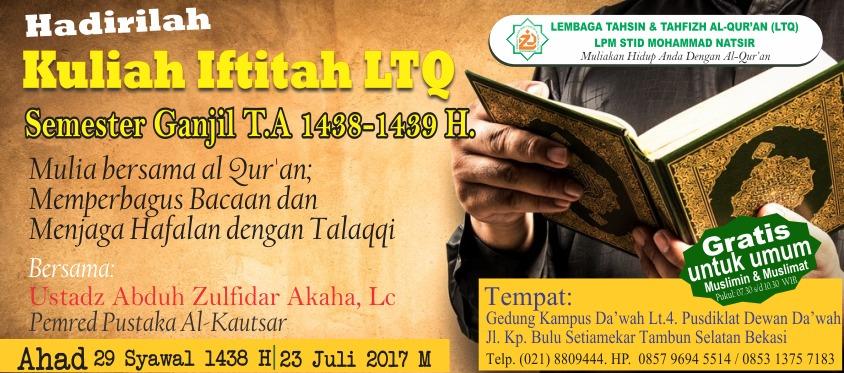 Kuliah Iftitah 1438 1439 H