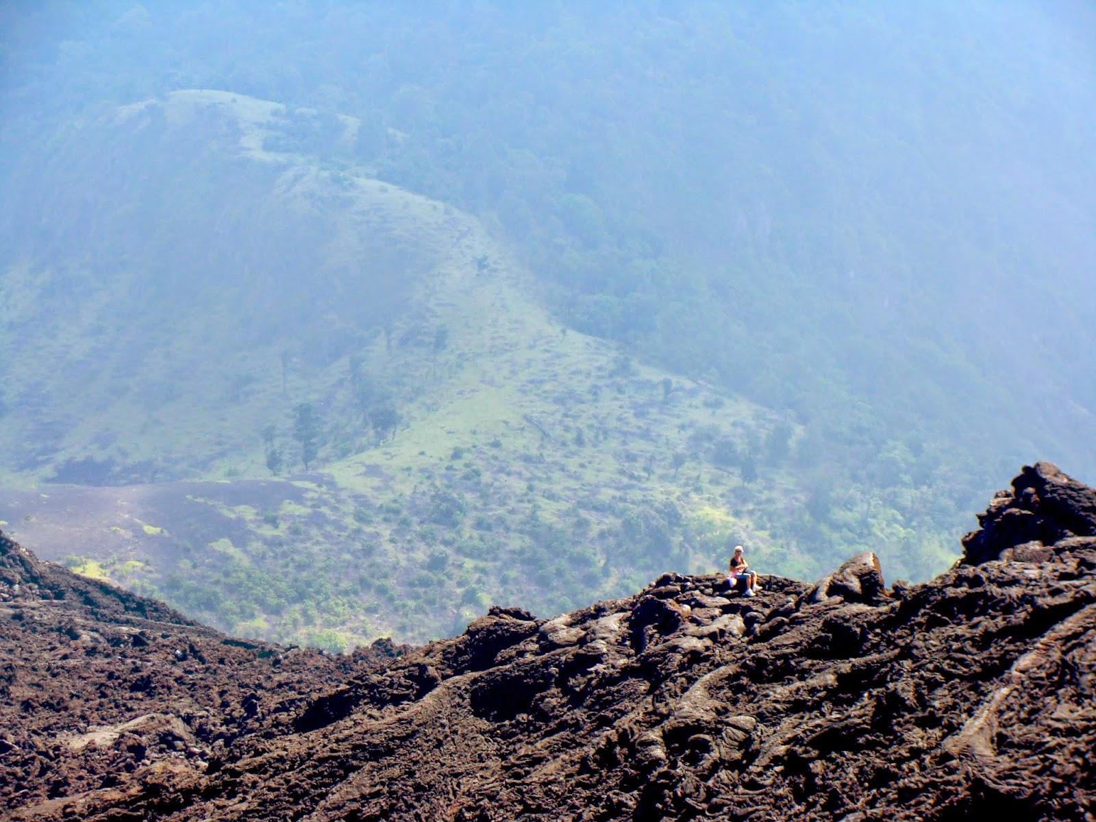 Vista desde el volcan de Pacaya en Guatemala
