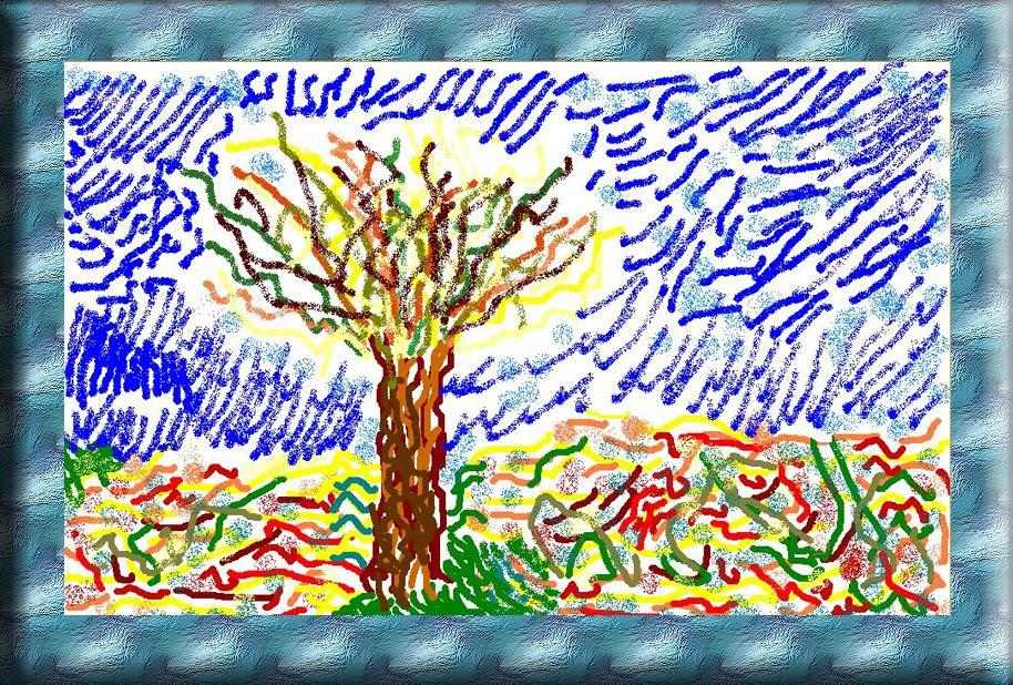Piccole cose di scuola il gelso di van gogh for Disegni da colorare di van gogh