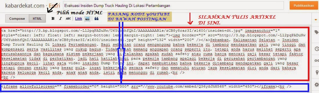 Terbaru 2014-Cara memasang Video Youtube di Blog