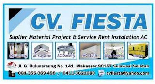 Lowongan Kerja Teknisi AC di CV Fiesta Makassar